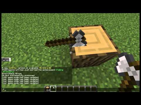 How To Make An Axe In Wood Sculpture In Minecraft 1.8