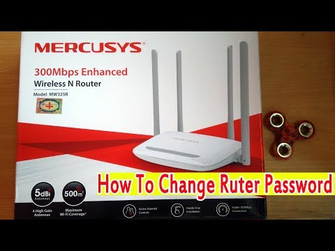 How To Change Password Mercusys MW325R 300Mbps Enhanced Wireless Router
