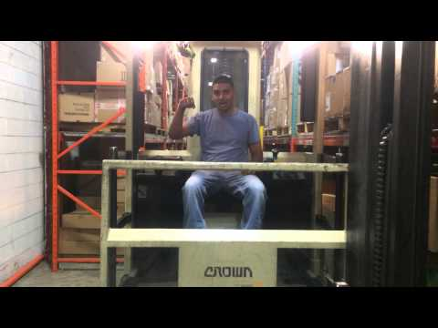 UN-OFFICIAL Forklift training video - How to operate a CROWN Swing Lift Truck TSP