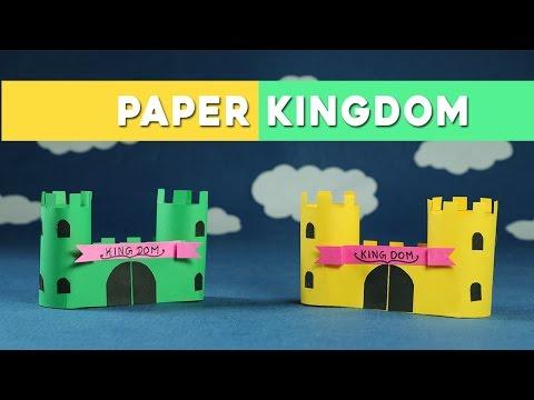 Easy Paper Crafts for Kids - Paper Castle (Kingdom)