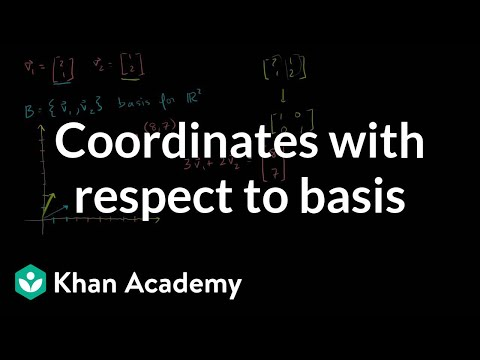Coordinates with respect to a basis | Linear Algebra | Khan Academy