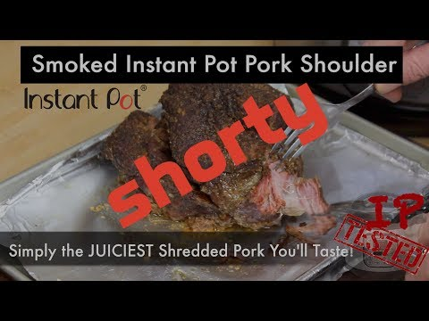 Instant Pot Mesquite Smoked Pork Butt Carnitas - Shorty