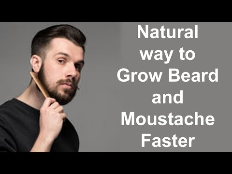 Natural way to Grow Beard and Moustache Faster