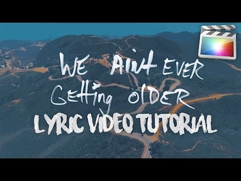 HOW TO MAKE THE 'CLOSER' LYRIC VIDEO EFFECT!! (Final Cut Pro X)