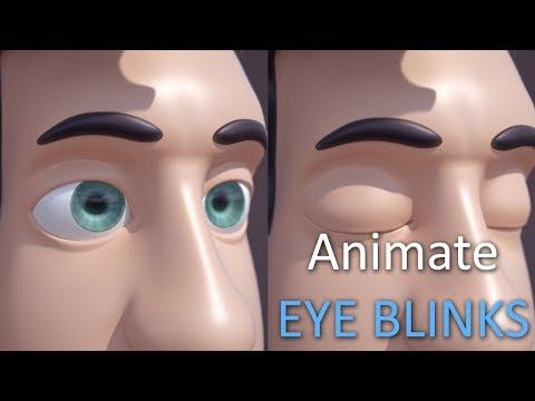 Blender Animation Tutorial : Character Eye Blinks