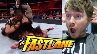 ROMAN REIGNS vs BRAUN STROWMAN! WWE FASTLANE LIVE REACTION