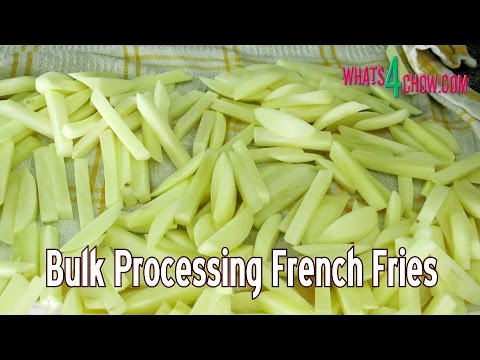 Batch Processing French Fries - Homemade Par-Fried French Fries to Save Time & Money!!!