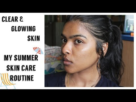 Clear & Glowing Skin Using Organic Products || My Summer Skin Care Routine 2018