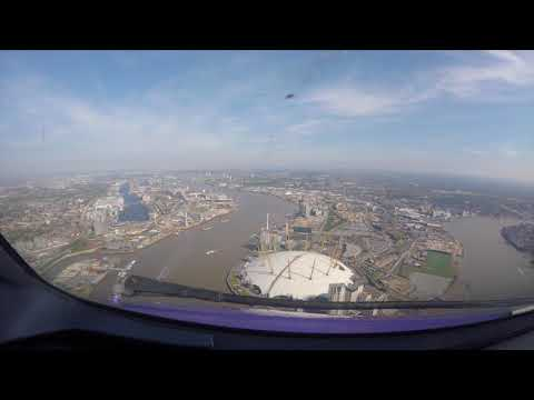 Flying over London City (LCY Airport)