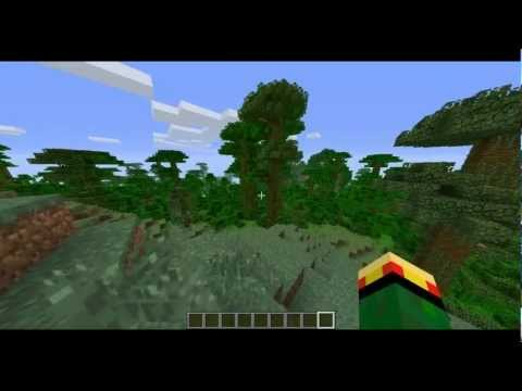 How to tame an Ocelot in Minecraft! (New Mob Gameplay)