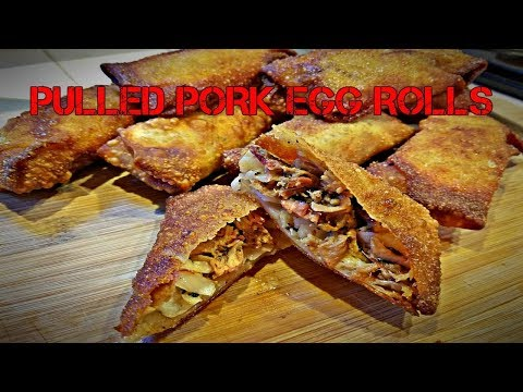 Pulled Pork Egg Rolls {What to do with leftover pork?}