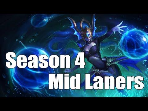Top Mid Laners : Solo queue - Season 4 [League of Legends]