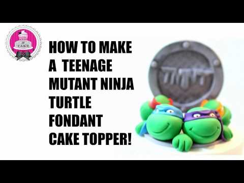 How to make Teenage Mutant Ninja Turtle Fondant Cake Toppers!