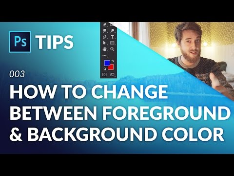 How to Change Between Foreground & Background Color in Photoshop