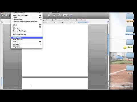 How to Make a Word Document Portrait or Landscape Word 2008