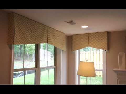 Different Styles Of A Box Pleat Valance Plus Determining Finished Measurements
