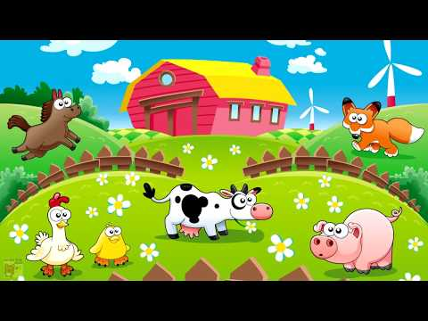 Farm Animals Name and Sound - Kids Fun Educational Learning Video | Old McDonald Farm