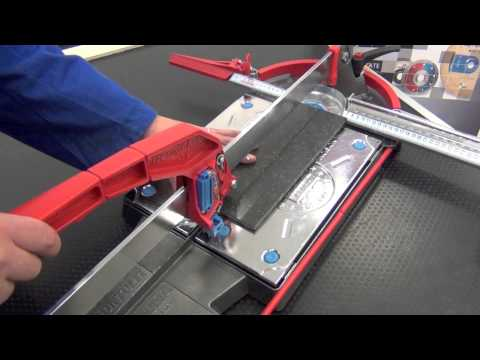 Cutting Porcelain Tile 7mm with manual tile cutter
