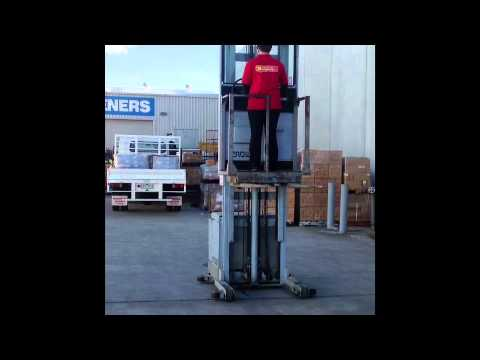 Fork Lift Cherry Picker Stock Picker Stacker People