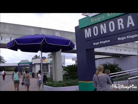 Monorail Ride From Transportation Station to Magic Kingdom! Spiels Included!
