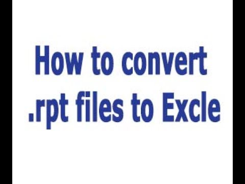 How to convert .rpt files to .xls - Tds Tax India | .rpt files to excel without software