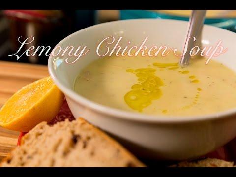 Greek Chicken Avgolemono Soup: Lemony Chicken & Orzo Soup