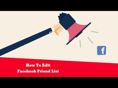 How To Edit Facebook Friend List
