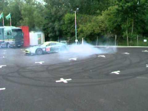 Aston Martin DBR9 Doughnuts at Prodrive FAST
