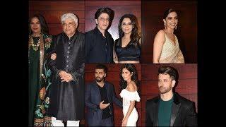 Bollywood stars at Javed Akhtar's bash | SRK & Gauri | Katrina & Arjun