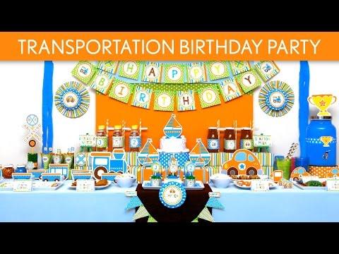 Transportation Birthday Party Ideas // Transportation - B136
