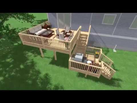 Wood Deck and Step Lighting Design