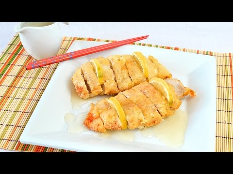 Chinese Lemon Chicken - How to Make Fried Chicken Breast with Lemon Sauce