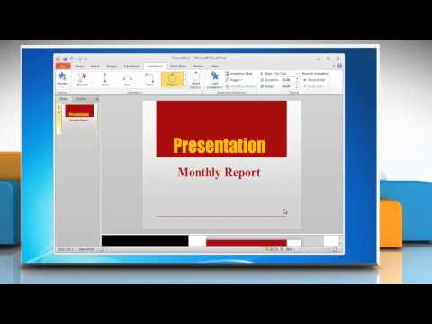 Microsoft® PowerPoint 2010: How to animate text in a presentation on Windows® 7?