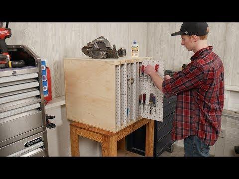 Saturday Morning Workshop: Sliding Pegboard Storage Box