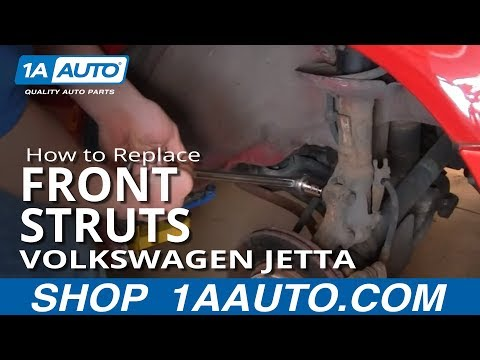 How To Install Replace Front Shocks Struts Volkswagen VW Golf Jetta 93-98 1AAuto.com