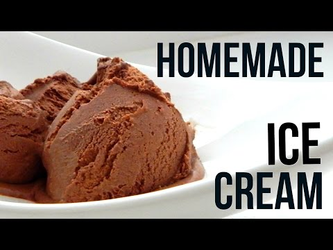 Homemade Dark Chocolate Ice Cream (How To Make - Easy Home Recipe)