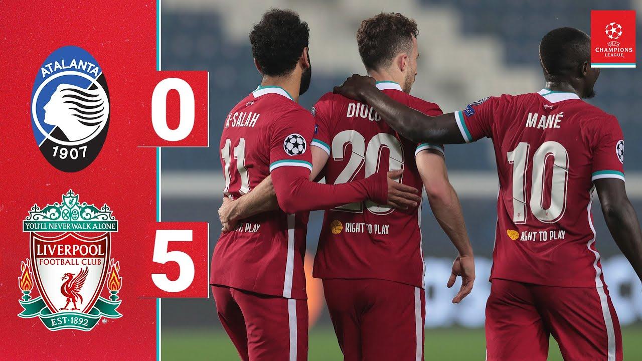 Highlights: Atalanta 0-5 Liverpool   Jota's Champions League hat-trick