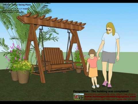 SW101 - Arbor Swing Plans Construction - Graden Swing Plans - Arbor Swing Design