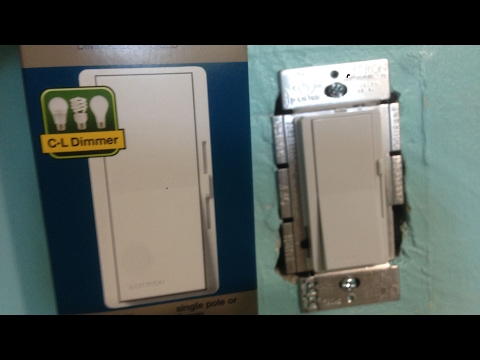 How to wire dimmer light switch