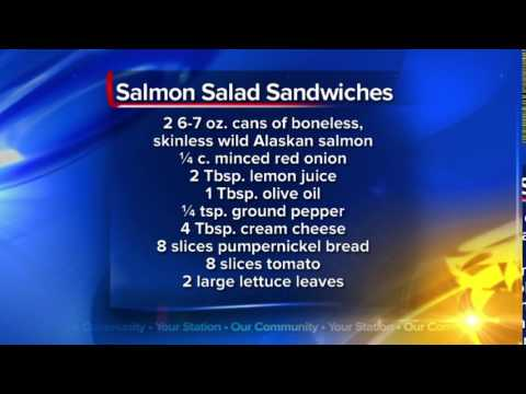What's For Dinner: Salmon Salad Sandwiches