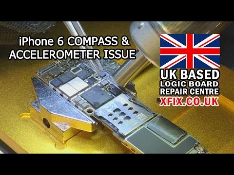 Repairing iPhone 6 Compass/ACCELEROMETER - Auto Undo Typing & Rotate Problem UK
