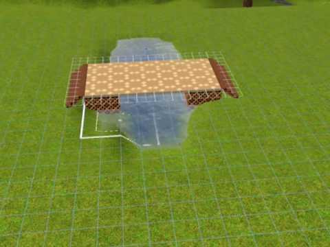 Sims3: How to make a bridge EASY WAY