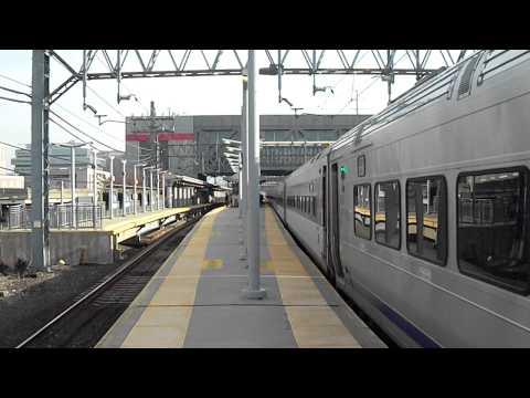 Metro North/NJT Football Train leaving Stamford, CT