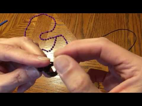 Hail Mary knot - Step 1 - How to make a knotted rosary