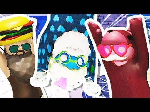 DANTDM, THINKNOODLES & THNXCYA FIGHT EACH OTHER!!! (Gang Beasts)