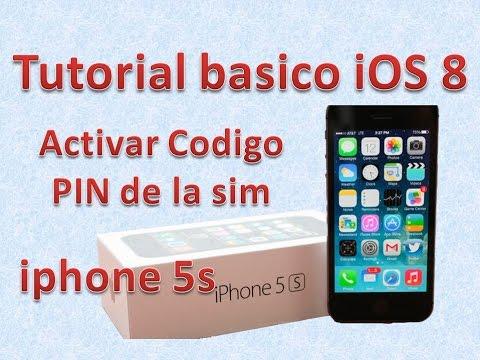 Tutorial y Guía de uso Iphone 5s parte 88 activar pin sim iphone