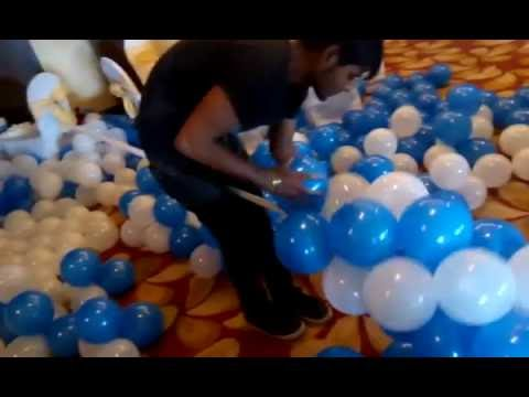 how to make balloon arch or balloon decoration for party ???