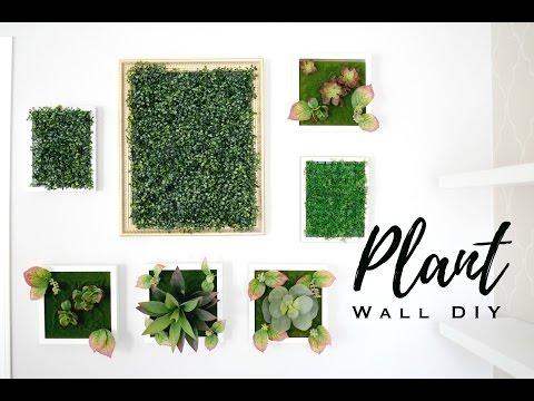 DIY FAUX PLANT WALL ART