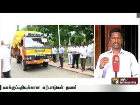 Report on election arrangements made across Tamil Nadu