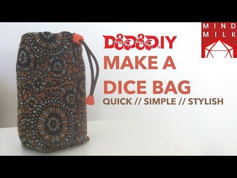 DIY craft your own Dice Bag
